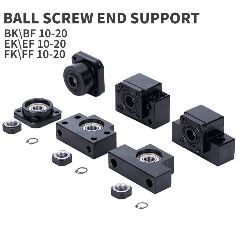 Soporte de tornillo, soporte fijo, rodamiento lineal, BKBF10/12 BKBF15 EKEF12/15 FKFF10/12 FKFF15 para tornillo de bola sfu1605/sfu2005