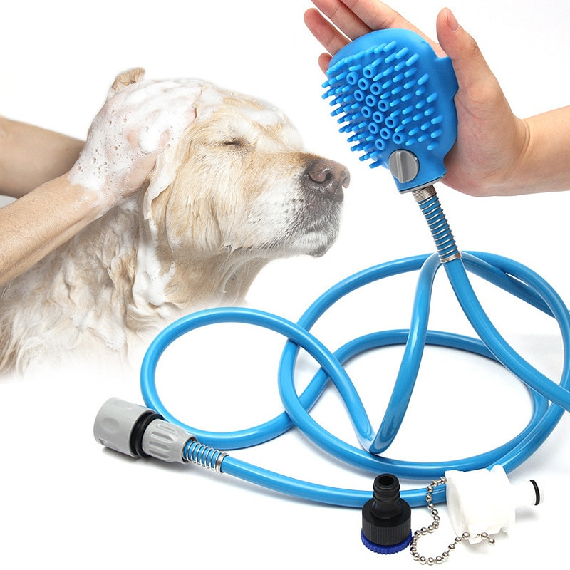 Pet Dog Cat Bathing Sprayer Shower Nozzle Cleaning Supplies For Animal Pet Products Massage Brush Dog Accessories dog bath