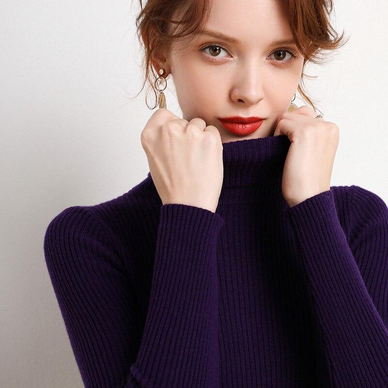 Helovi 2019 fwomen 100% cachemir swe pulóvers suéter de invierno mujeres tejidas suéteres y jerseys de Cachemira