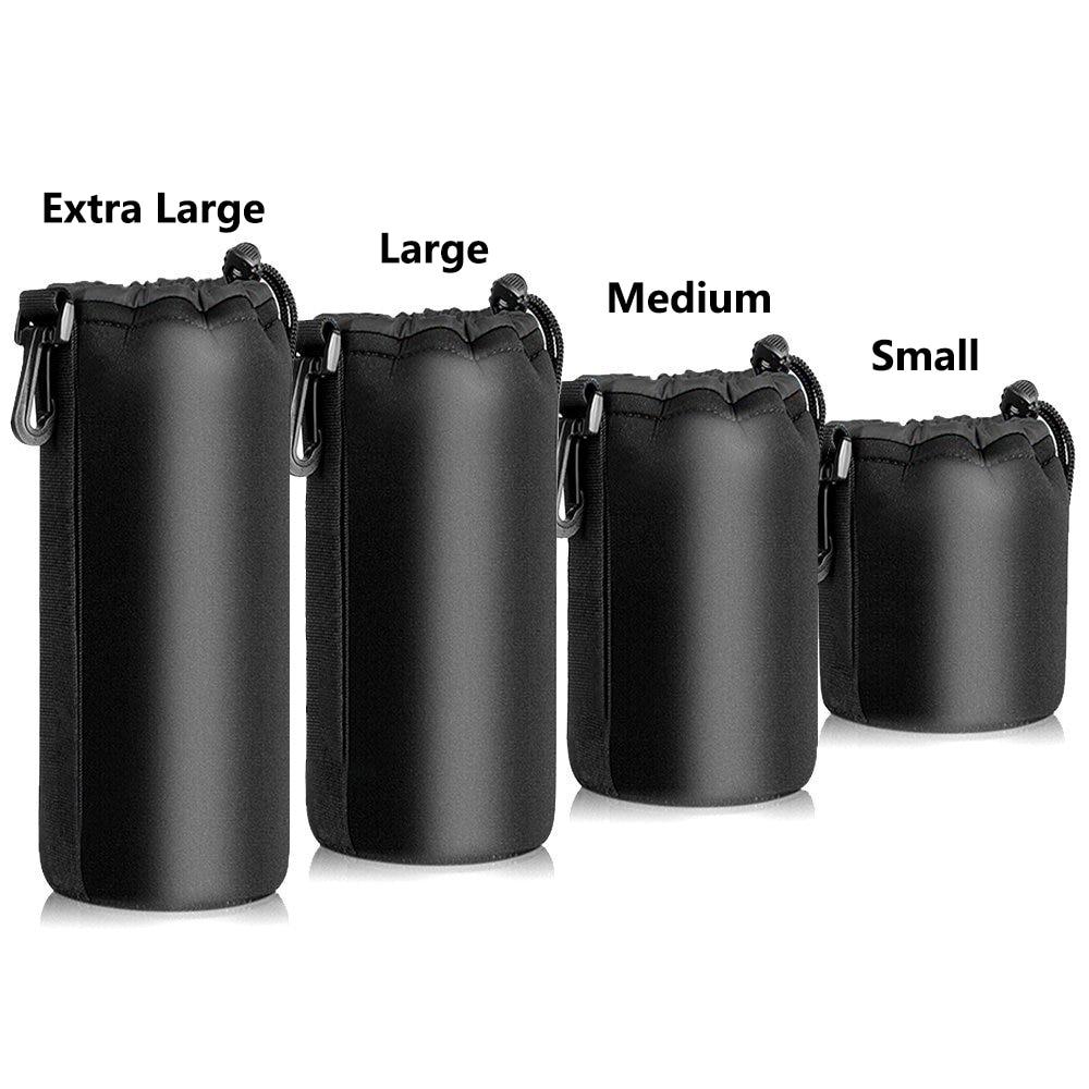 3mm impermeable Universal Matin neopreno lente de cámara de video suave bolsa funda tamaño completo S M L XL protector de lente de cámara