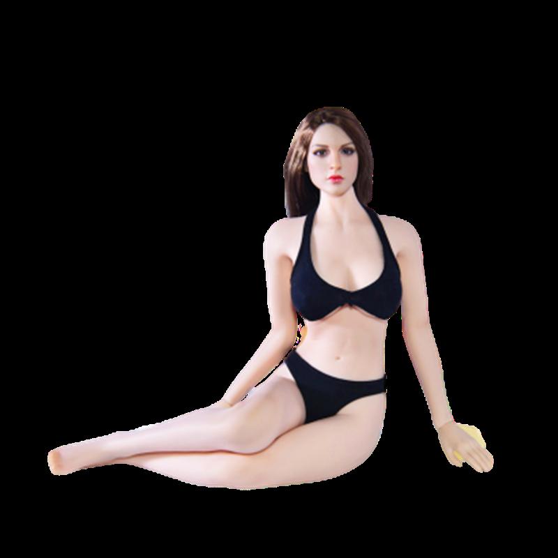 Accesorio de ropa femenina a escala 1/6, traje de baño Sexy para playa para mujer, bikini para hacer surf, traje para figura de 12 pulgadas, modelo de cuerpo de figura de acción