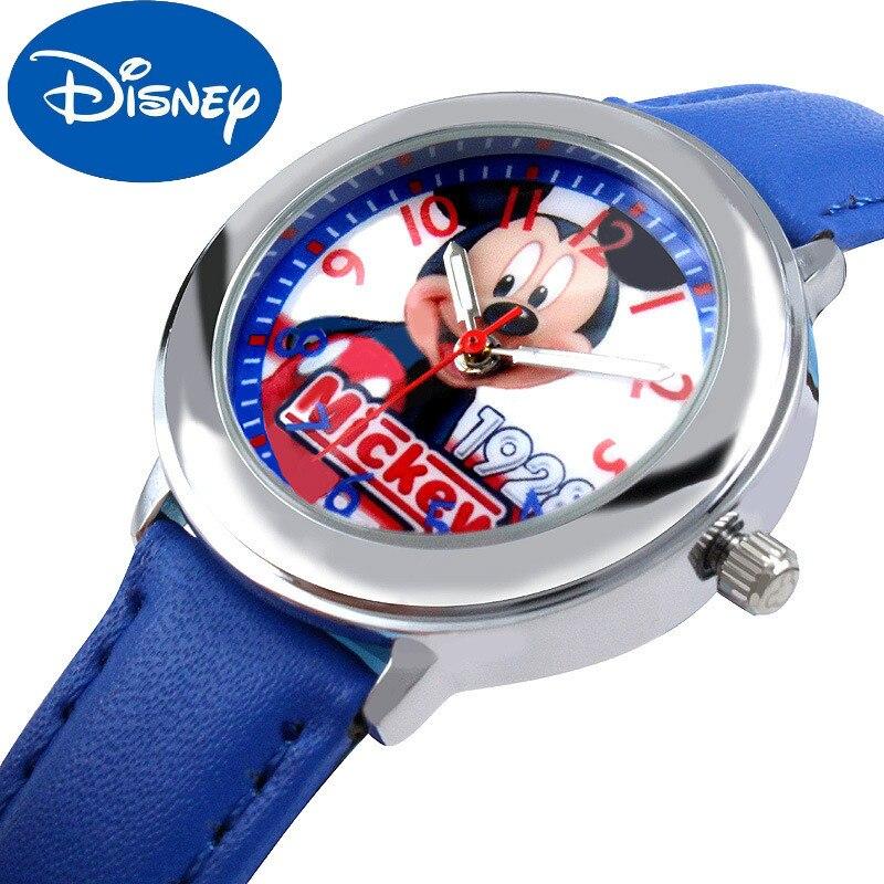 Reloj Original de Disney para niños, niñas, alumnos de escuela primaria, reloj de dibujos animados, reloj de Mickey de Disney para niños