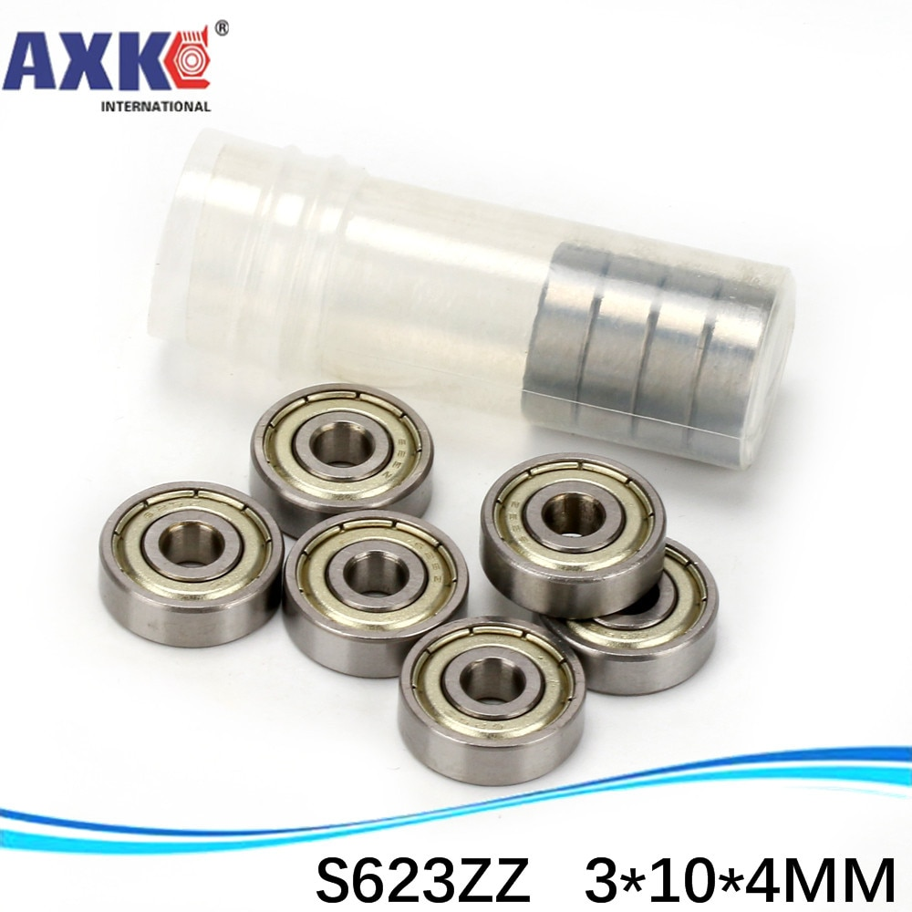S623ZZ SS623ZZ SB623ZZ 623ZZ 623 Acero inoxidable 440C Cojinete de bolas de ranura profunda 3x10x4mm rodamiento en miniatura