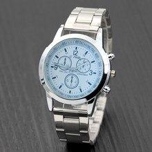 Otoky Luxury New Men Women Watch Crystal Watches Stainless Steel Dial Casual Bracele Analog Watch Ze