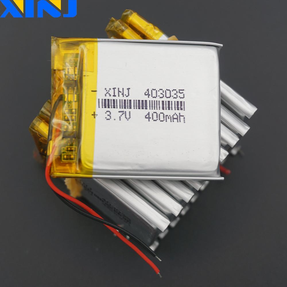 XINJ 10 Uds 3,7 V 400mAh Li batería de polímero de litio li po Li ion celular 403035 para GPS navegación DIY cámara grabadora de conducción gafas