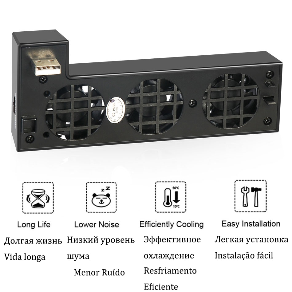 Cooling Fan Cooler Control for X Box Xbox One X Console Controller USB Gadget DC 5V Ventilator Refrigerator Ventilador Fanar Fan 2
