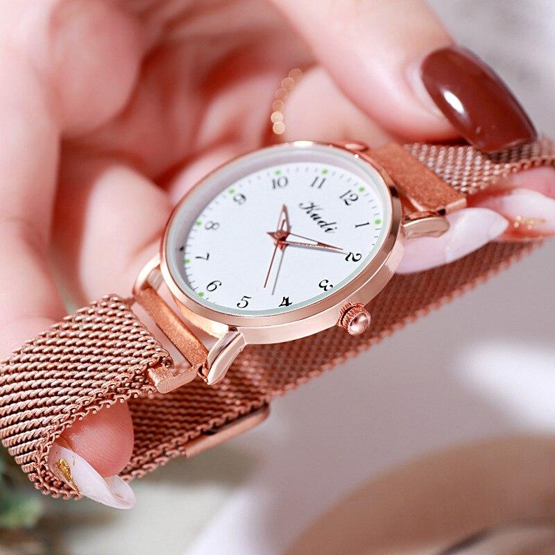 YUNAO Minimalist Light Luxury Waterproof Women's Watch Fashion Simple Digital Luminous Small Dial Watch Jewelry Gift Watch enlarge