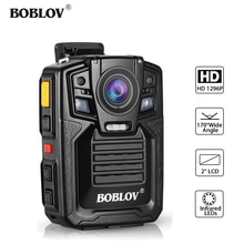 BOBLOV HD66-02 32GB/64GB HD 1296P Mini Camcorder Security Police Body Camera Night Vision Video Reco