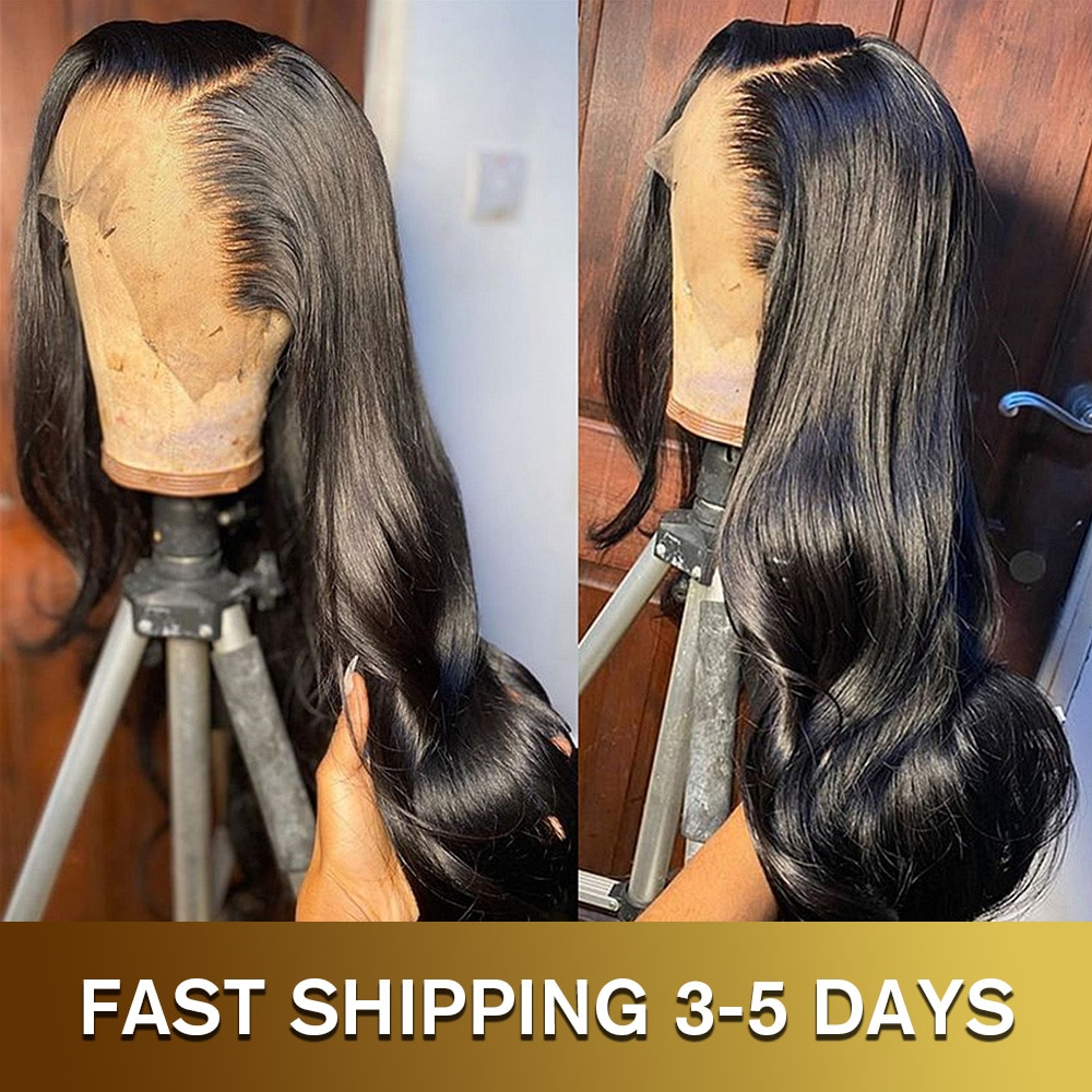 28 30 Inch Body Wave 13x4 Lace Front Human Hair Wig 200% Density Glueless Frontal Pre Plucked Brazil