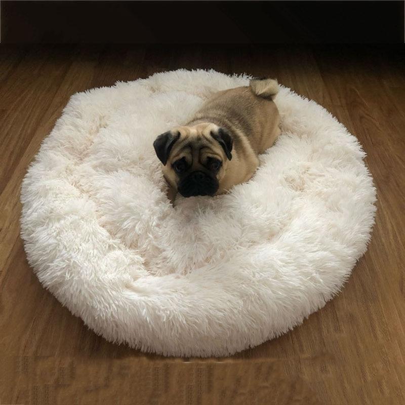 Super miękkie legowisko dla psa pluszowy kot mata łóżka dla psa duże psy łóżko dom okrągła poduszka produkt dla zwierząt akcesoria Dropshipping
