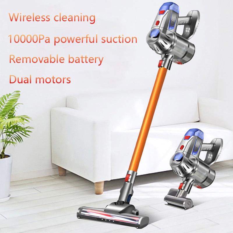 Powerful Wireless Handheld Vacuum Cleaner Dual Motors 10kPa Home Car LED Mi Electric Sweeper Cordless Remove Mites Dust Cleaner