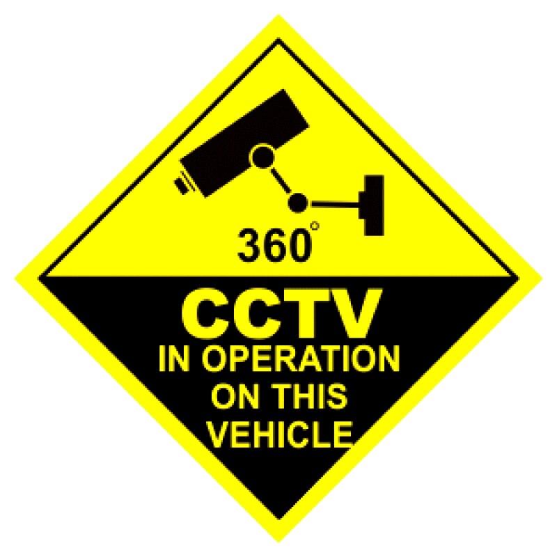 B0720 самоклеящаяся наклейка CCTV во время работы на этом автомобиле, 360 градусов, автомобильная наклейка, водонепроницаемые Автомобильные укра... книжка наклейка время