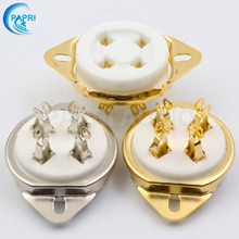 Patri 2 pçs 300b 2a3 811 5u4g tubo de vácuo soquete cerâmica u4a 4 pinos banhado a ouro e banhado a prata montagem do chassi áudio alta fidelidade diy