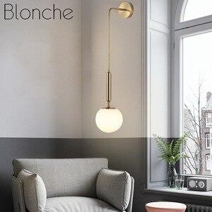 Modern Minimalist Wall Lamp Modern Wall Lights Living Room Bedroom Bedside Study Aisle Fixture Luxury Art Ball Glass Wall Sconce