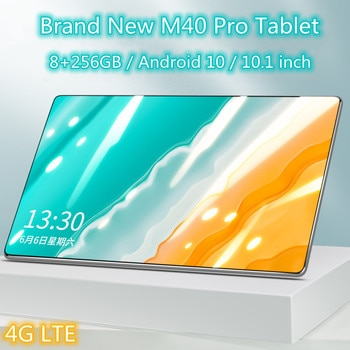 M40 Pro Tablet 10.1 Inch 8GB+256GB Tablet Android PC 1920x1200 4G Network MTK Helio P60 GPS WIFI online class Phone Call tablets