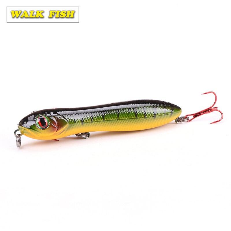 Walk Fish Fashion 1 шт. 10 см 15 г рыболовная приманка с головой змеи, приманка-карандаш, плавающие приманки, морские басы, 3D глаза, ABS приманка воблер