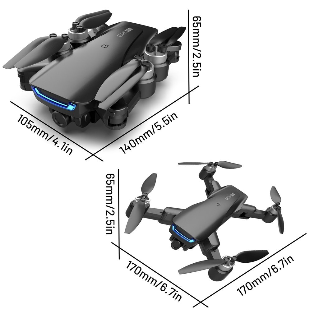2021NEW LU5 drone and 4K camera dual camera GPS height hold headless mode WiFi FPV brushless motor drone 4k professional enlarge