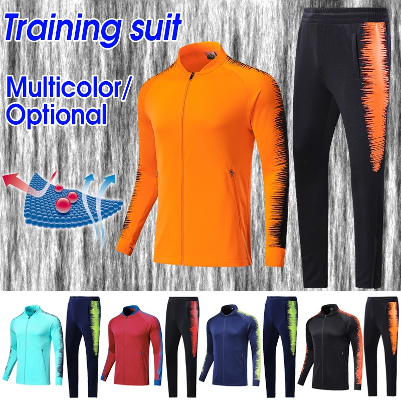 Trajes deportivos para hombre, conjunto de uniforme de fútbol, chándal, chaqueta de manga larga, Jerseys de entrenamiento de fútbol, deportes al aire libre, trajes para correr