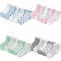5pairslot summer mesh breathable baby socks newborn cartoon sock for girls boys baby clothes accessories
