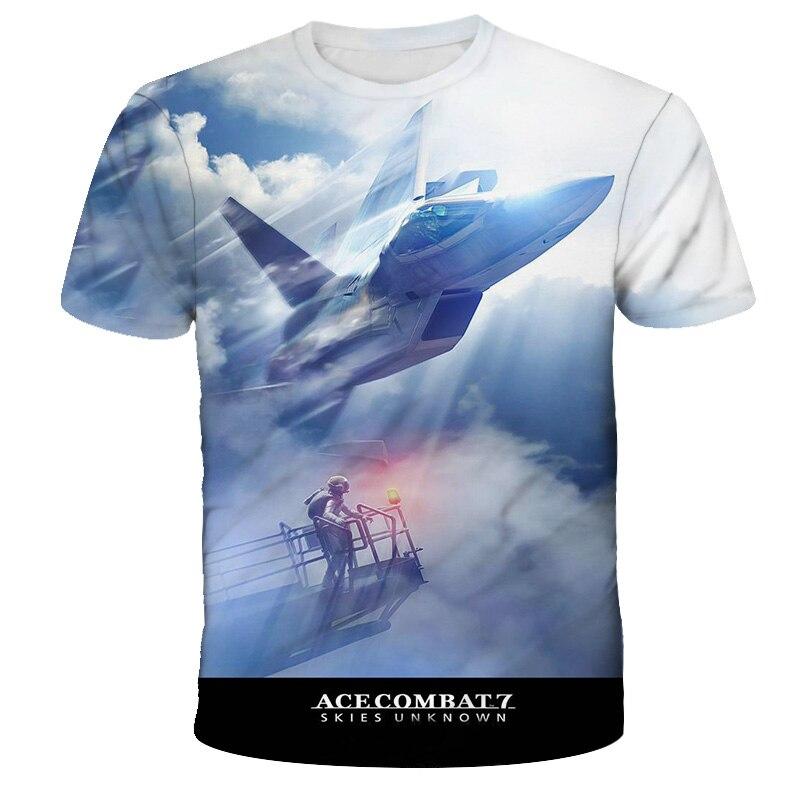 Camiseta de combate Ace para hombre y mujer, Camiseta con estampado 3D...