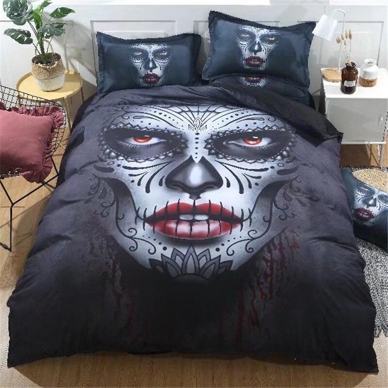 ¡Con película de terror edredón/doona cubierta reina rey tamaño único boutique ropa de cama conjunto