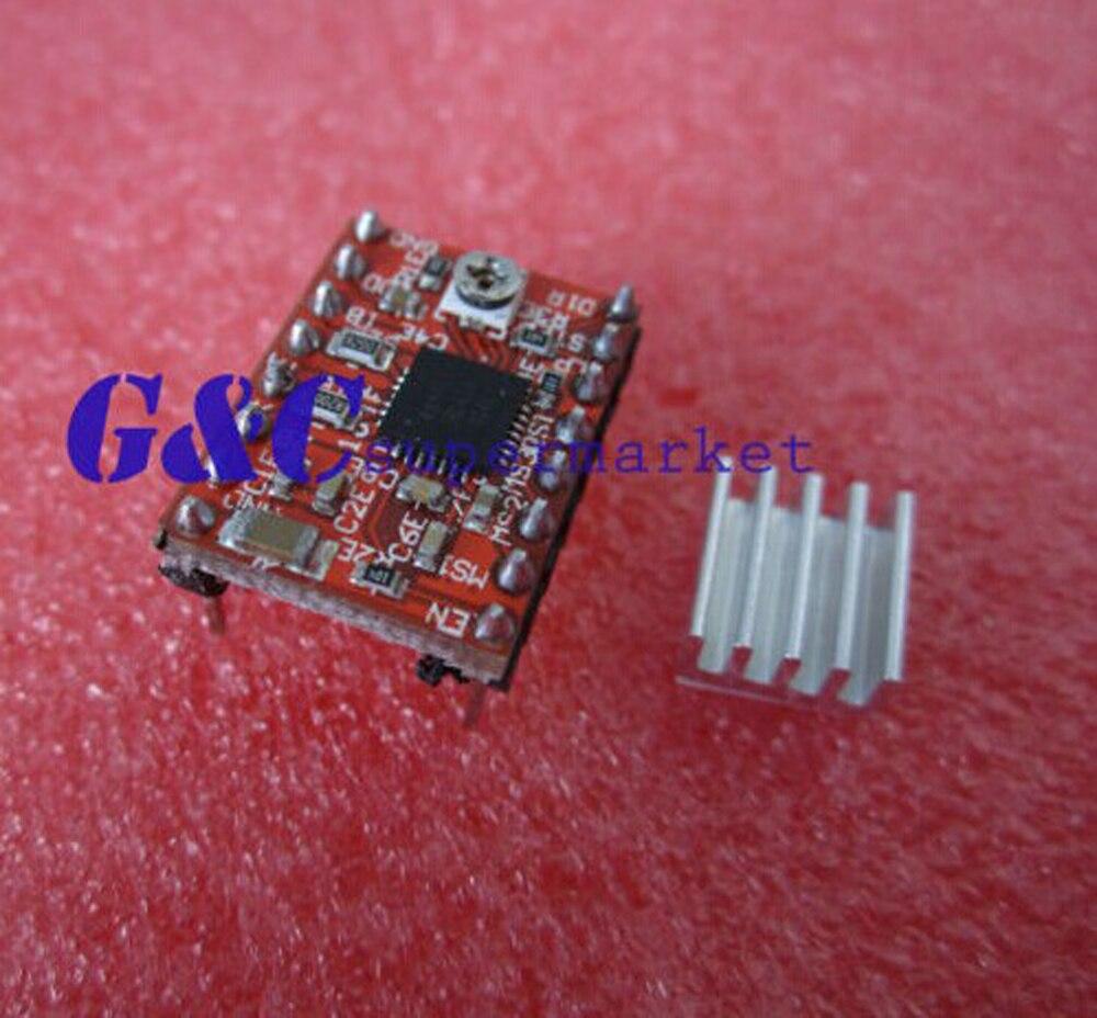 5 uds A4988 módulo de controlador paso a paso Polulu portátil para Reprap Prusa RED diy electronics