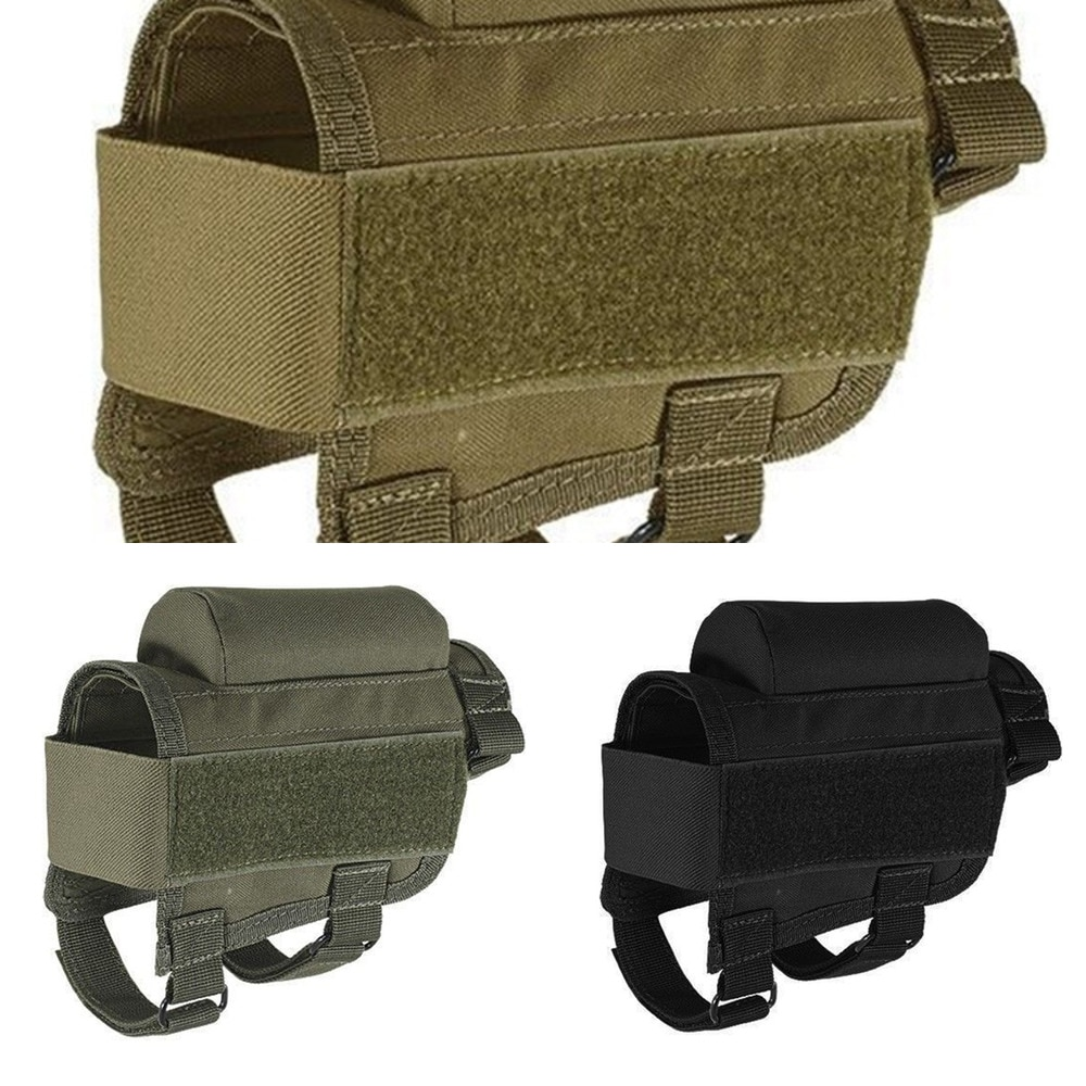 10 round 12gauge 12ga molle pouch tactical shell holder ammo bag military army hunting bandolier cartridges bullet holder bag Nylon Tactical Rifle Cheek Rest Riser Pad Ammo Cartridges Holder Carrier Canvas Pouch Round Cartridge bag shell Buttstock Ammo