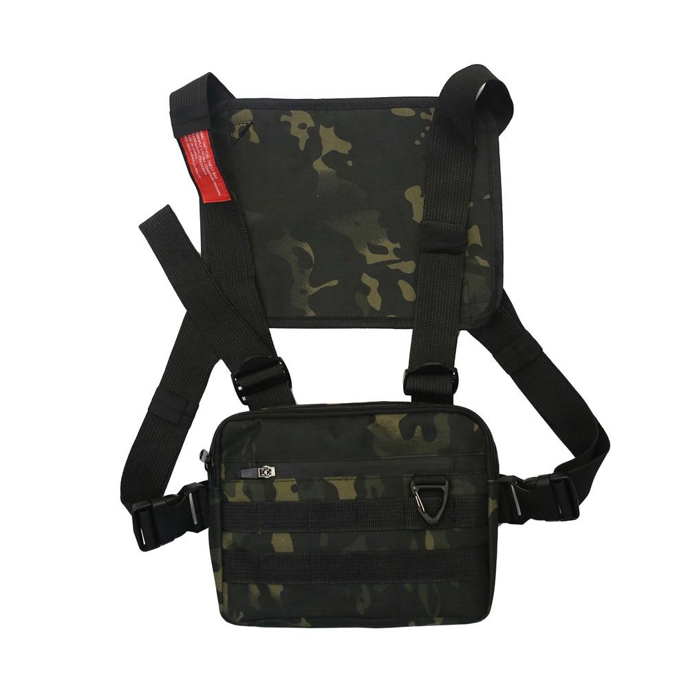 Новинка 2020 тактические мужские сумки-жилеты многофункциональные хип-хоп нагрудные Мужские сумки камуфляжные мужские нагрудные сумки легк...