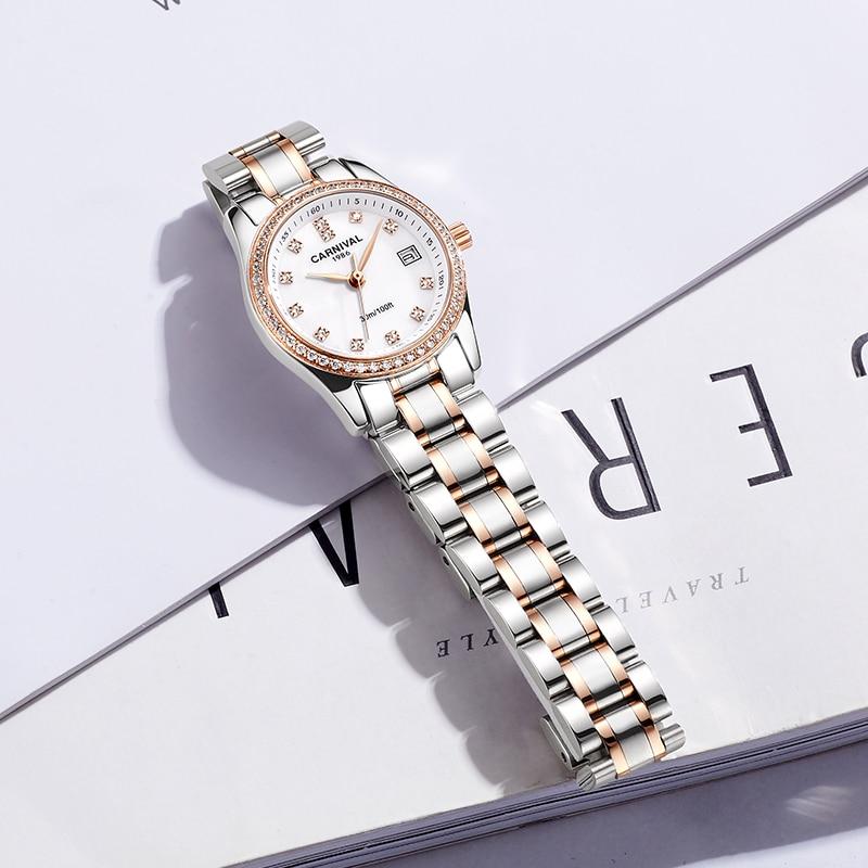 Relogio Feminino CARNIVAL Women Watches Top Brand Luxury Bracelet Watch Womens Waterproof Gold Quartz Wristwatch Clock Saat 2021 enlarge