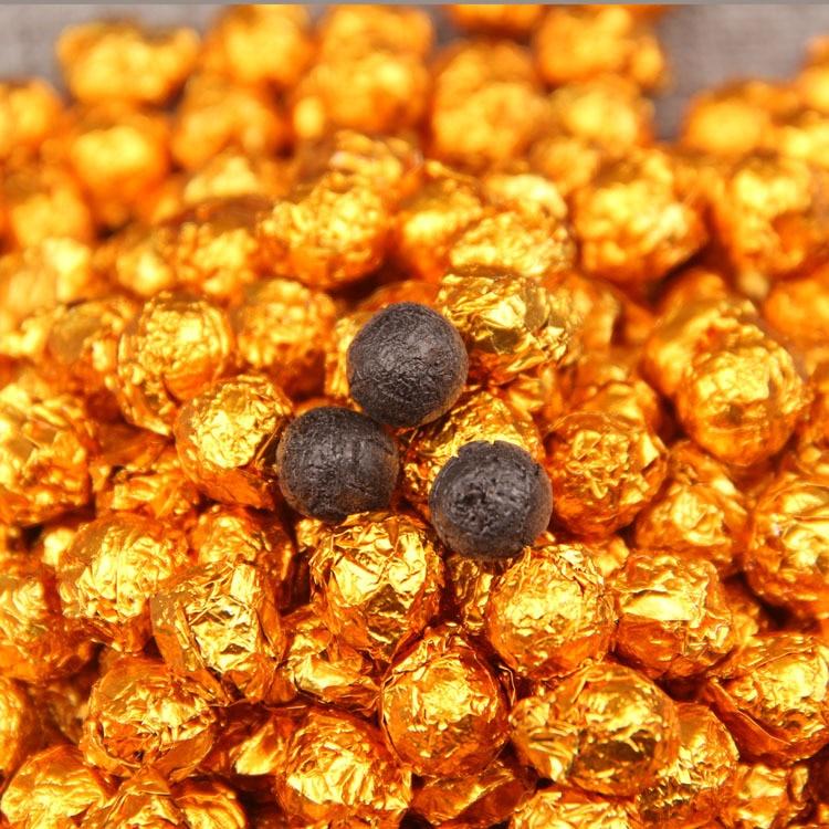 100g china yunnan chá maduro folha de lata ouro embalagem resina chá puer er cha gao