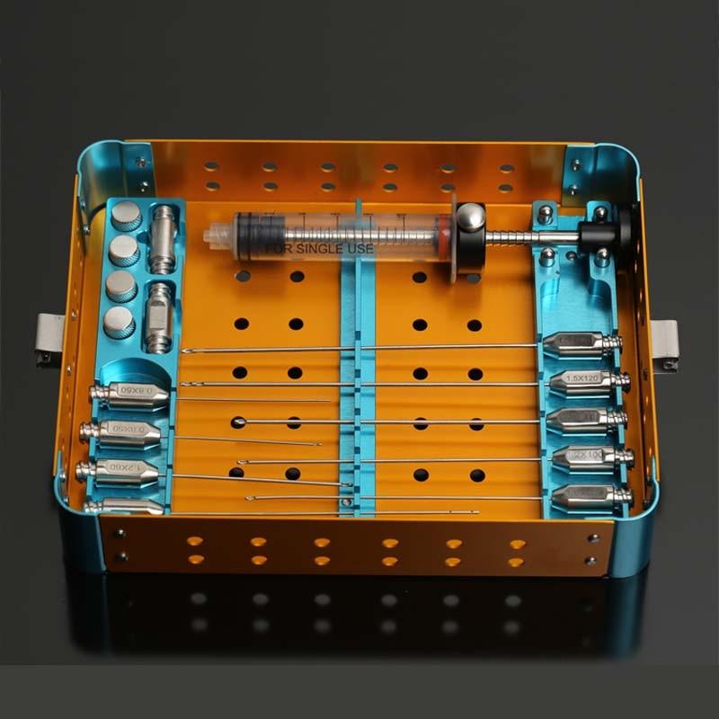 Facial fat filling graft transplantation cannula kit Stem Cell Lipo face Fat Transfer Liposuction needle set