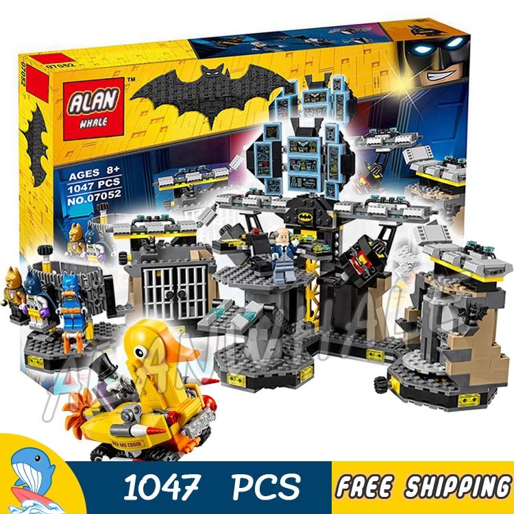 1047 Uds. Superhéroes Batman película Batcave Break-in Bat Base 10636 figura bloques de construcción niños juguetes compatibles con LagoING