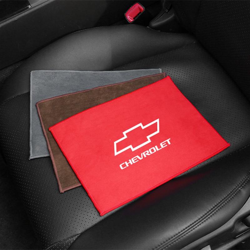 Для Chevrolet очистной люк для окна Care сильной воды впитывающий коралловый флис Черная замша автомобиль Полотенца микрофибра тряпка для мытья