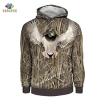 sonspee 3d animal harajuku mallard bird camo hunting hoodie fashion men casual long sleeve hooded sweatshirt women fashion hoody