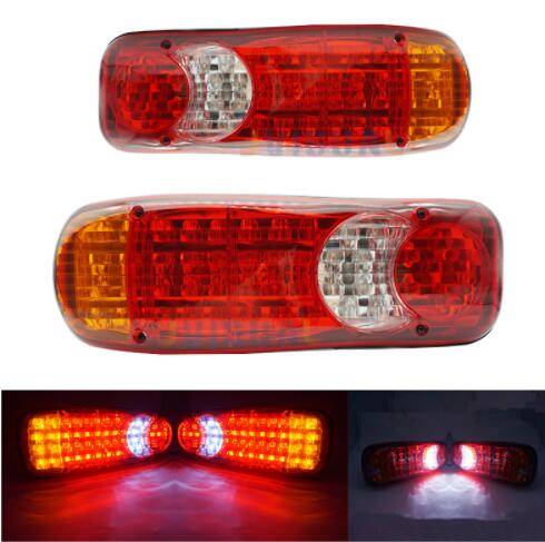 1Pcs Waterproof Car 46 LED Tail Light Rear Lamps Pair Boat Trailer 12V Parts For Truck