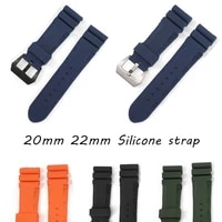 24mm 22mm watch men high quality waterproof rubber relogio saati watches band strap buckle clasp for pam