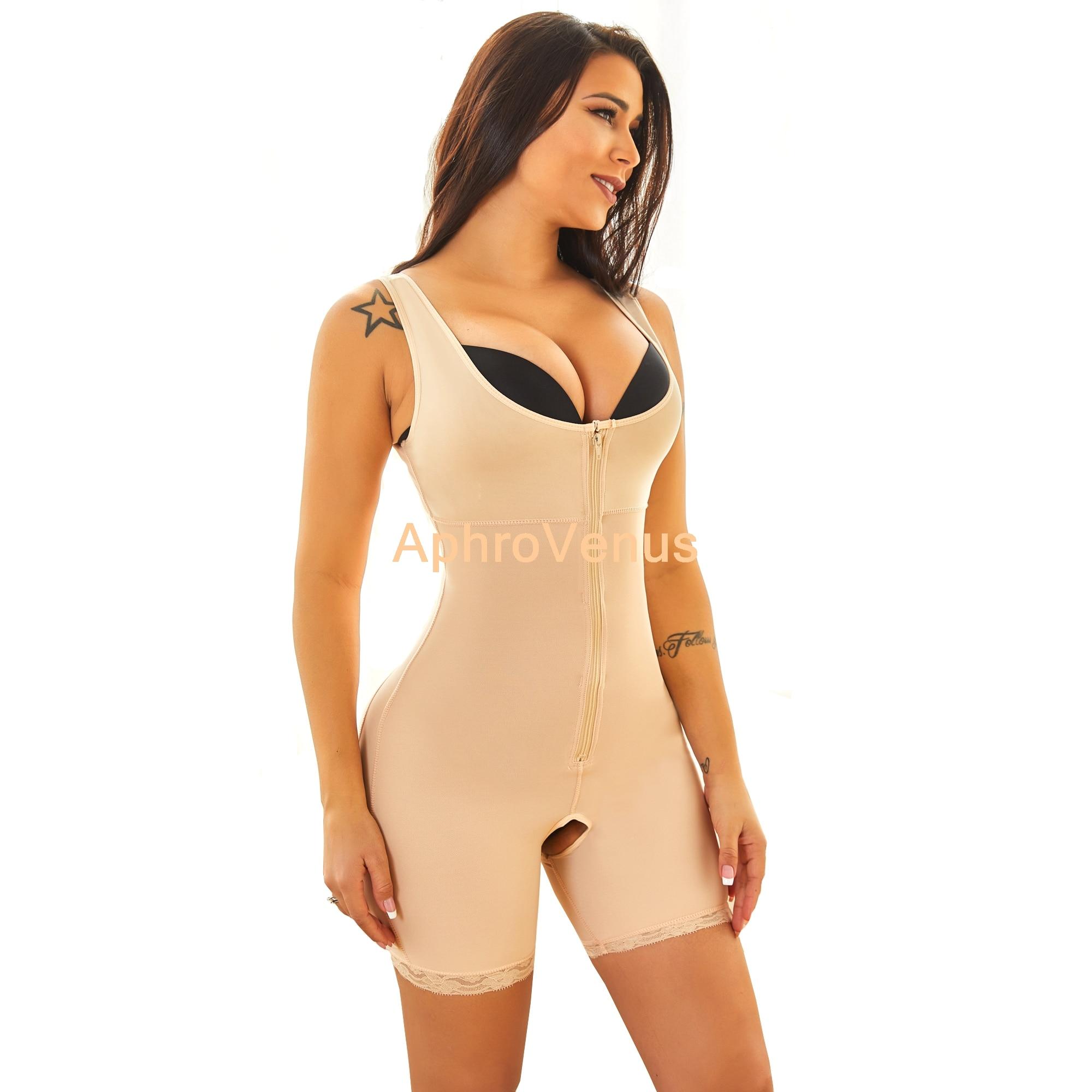 Cuerpo completo con cremallera de cinta sin costuras para mujer y Cuerpo...