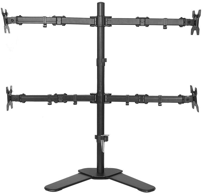 Настольная подставка с полным движением, Поворот на 360 градусов, держатель для монитора с 4 экранами, крепление для ЖК-монитора 10-27 дюймов, по...