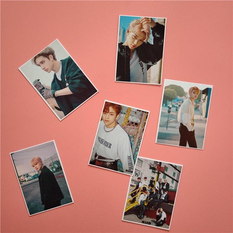 Set de 16 unidades de tarjetas de fotos para niños de Kpop STRAY, álbum con doble nudo, LEVANTER Lomo, Tarjeta para sesión fotográfica de colección de Fans OD101
