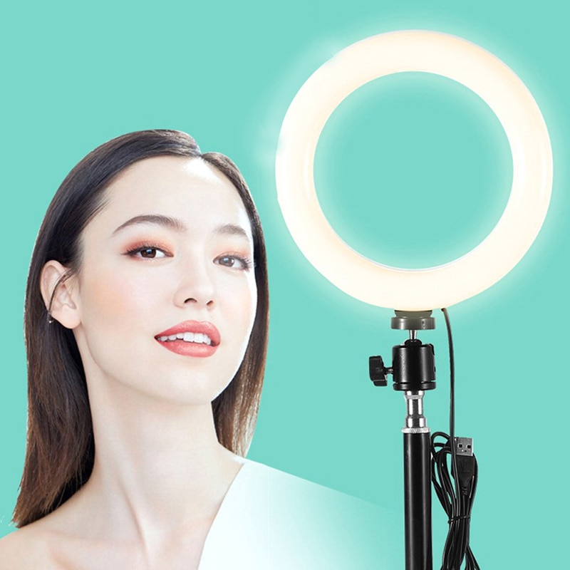 LED Ring Light Photographic Selfie Ring Lighting with Stand for Smartphone Makeup Video Studio Tripod Ring Light