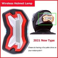 Wireless Universal Moto Brake Turn Signal Indicator Light Warning LED Light Helmet Lamp Motorcycle Accessories/Six Flash Modes