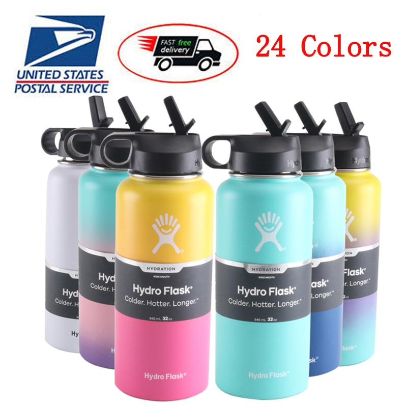hydroflask 18oz/32oz/40oz Tumbler Flask Vacuum Insulated Flask Stainless Steel Water Bottle Wide Mou