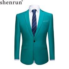 Shenrun hommes costume veste Blazers affaires vestes formel bureau décontracté Slim Fit noir vert violet rose jaune mariage fête de bal