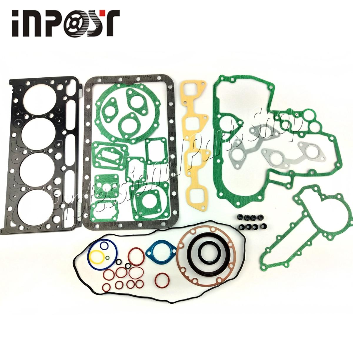Полный комплект прокладок двигателя с прокладкой головки цилиндра, подходит для Kubota V2203 V2203B V2203T 07916-29505 19077-03310 07916-29515