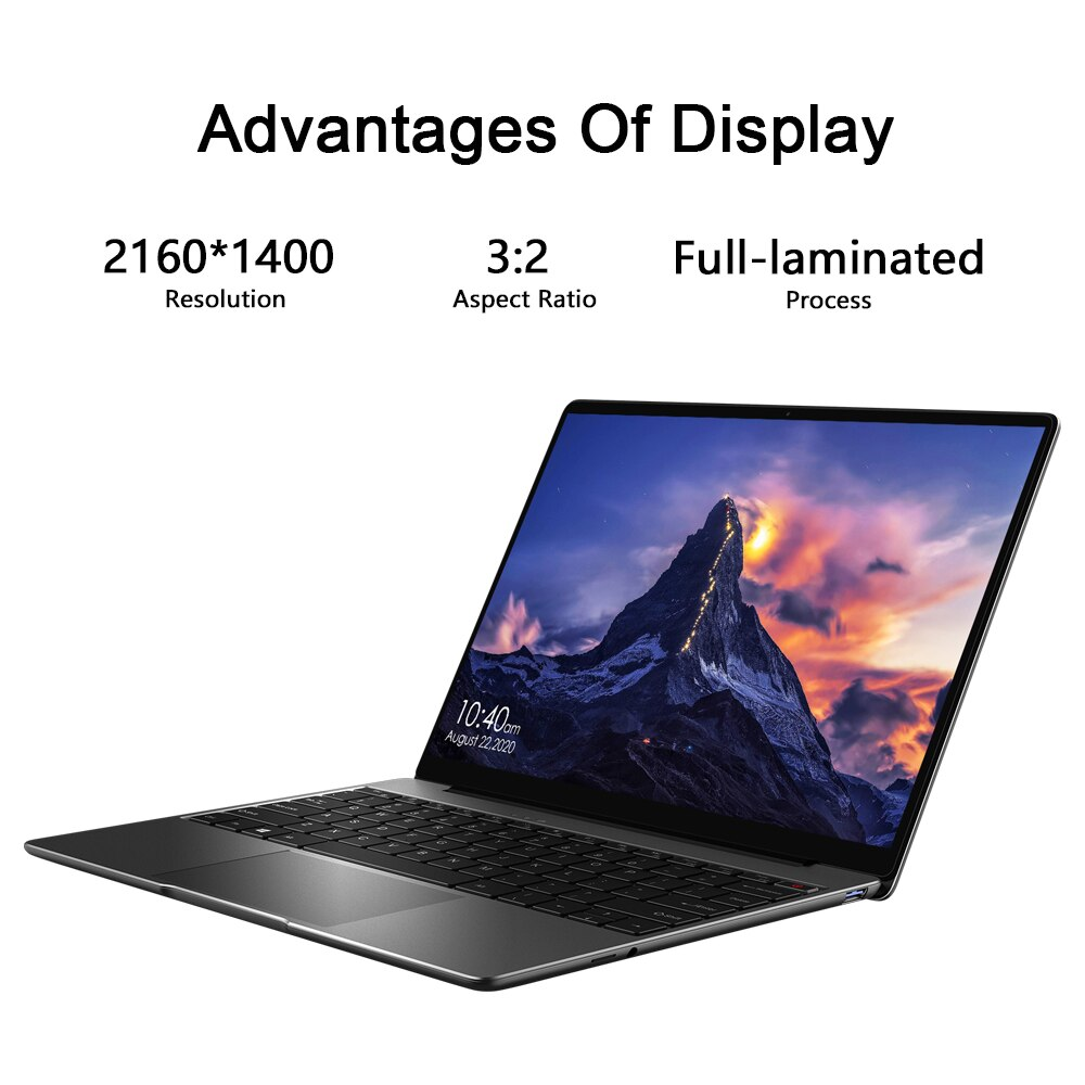 CHUWI GemiBook 13inch 2K IPS Screen Laptop Intel Celeron J4115 Quad core 12GB RAM 256GB SSD Windows10 computer  Backlit keyboard