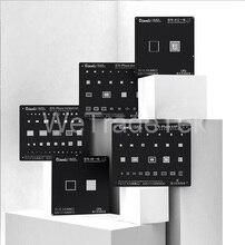 Qianli-plantilla Reballing Black Plus BGA para teléfono 11 X XS XR XSMAX 8P 8 7P 6P NAND IC Chip, reparación de soldadura, plantilla de agujero cuadrado