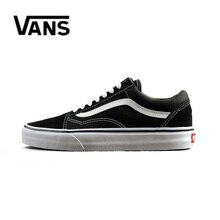 Authentic Vans Old Skool Men Canvas Sneakers Red Black Comfortable Outdoor Women Skateboarding Shoes