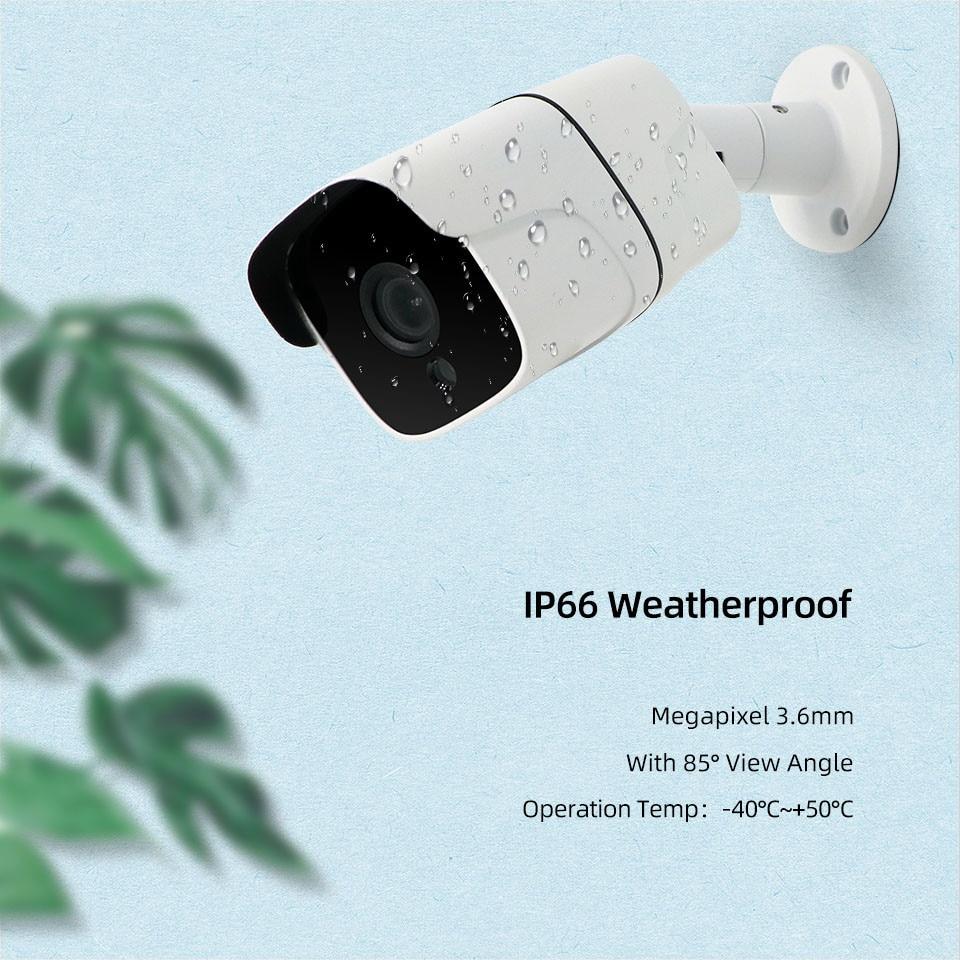 JeaTone 720P AHD الأمن كاميرا مراقبة فيديو في الهواء الطلق مقاوم للماء كاميرا الأمن اللون الأبيض 15 متر الأشعة تحت الحمراء للرؤية الليلية