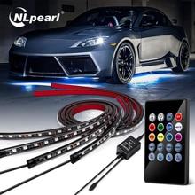 NLpearl Car Underglow Light Flexible Strip LED Underbody Light Remote /APP Control Led Neon Light RG