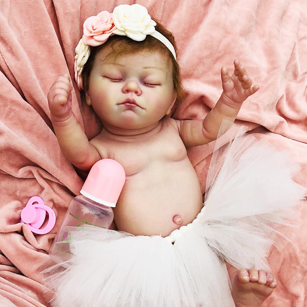 """OtardDolls Boutique bebé muñecas reborn 20 """"vaso sanguíneo transparente cuerpo completo de silicona bebé reborn muñeca regalo"""